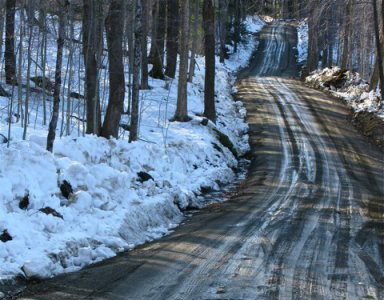 A long, muddy Vermont road.